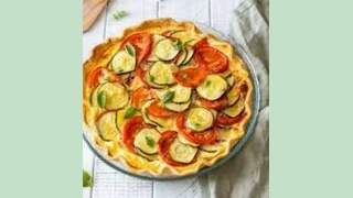Quiche courgettes tomates